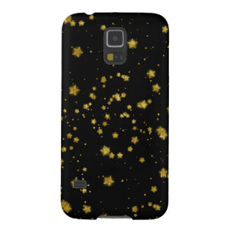 Gold Star Faux Foil Sequin Background Stars Design Galaxy S5 Case