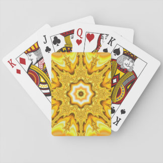 Gold Star Fractal Classic Playing Cards