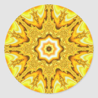 Gold Star Fractal Stickers