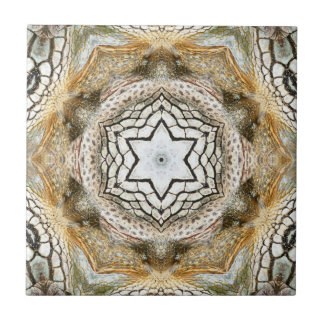 Gold Star Geometric Nature Ceramic Tile