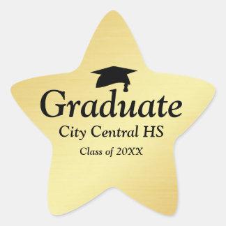 Gold Star Graduate 2017 Graduation Envelope Seal Star Sticker