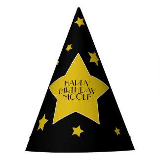 Gold Star Happy Birthday Hollywood Birthday Party Hat