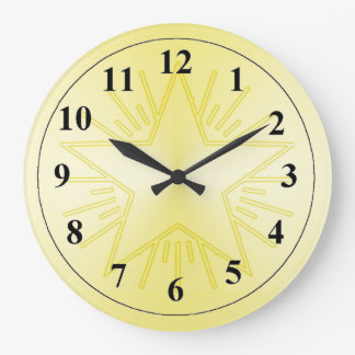 Gold Star Large Clock by Janz