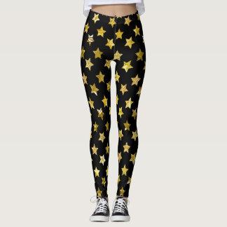 Gold Star Leggings