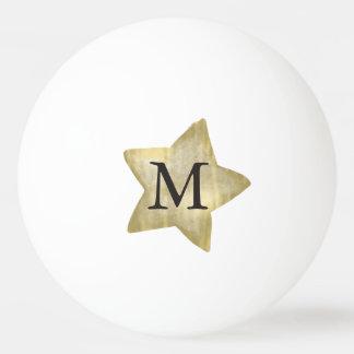 Gold Star Monogram