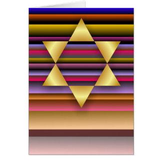 Gold Star of David Card
