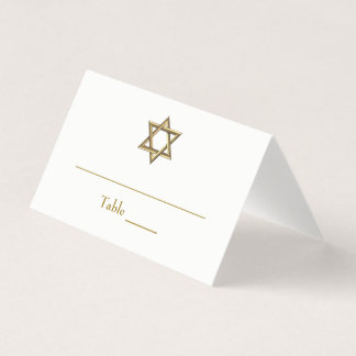 Gold Star of David Place Card