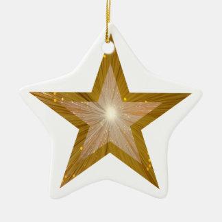Gold Star ornament star shape white