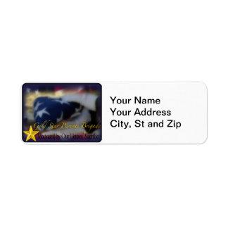 Gold Star Parents Brigade Return Address Label