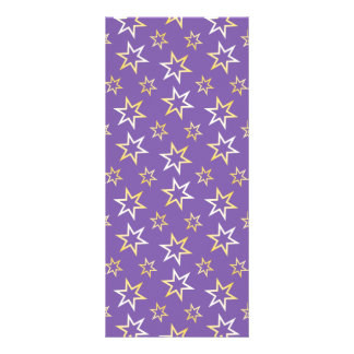 Gold Star Pattern Rack Card Design