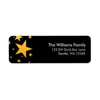 Gold Star Return Address Return Address Label