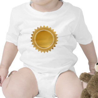 Gold Star Seal Medal Baby Bodysuits