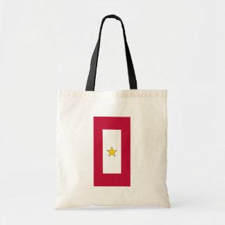 Gold Star Service, United States flag Tote Bag