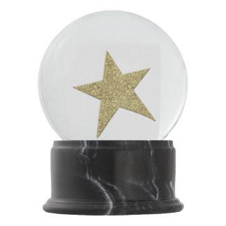Gold Star Snow Globe