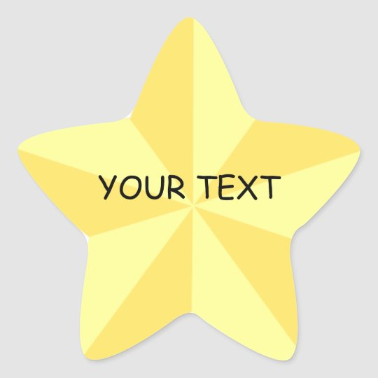 gold star star shape sticker template zazzle com au