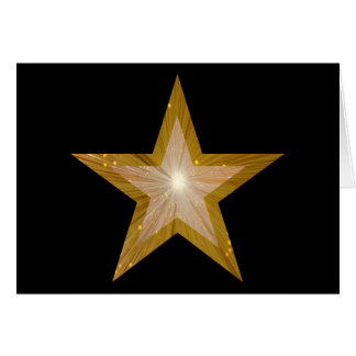 Gold Star two tone greetings card black