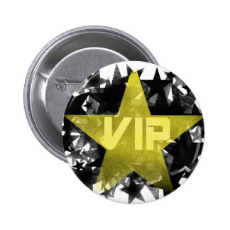 Gold Star VIP 6 Cm Round Badge