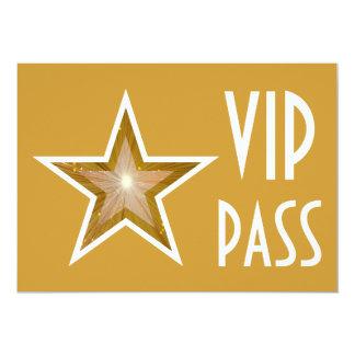 Gold Star 'VIP PASS' invitation gold horizontal