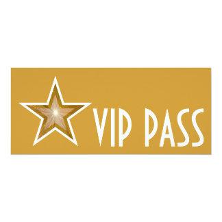 Gold Star 'VIP PASS' invitation gold long