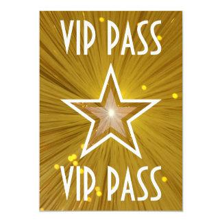 Gold Star 'VIP PASS' invitation white