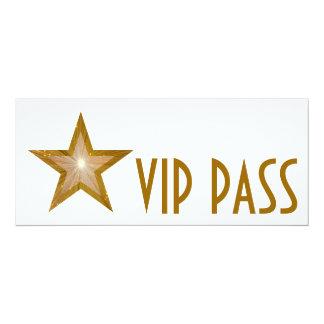 Gold Star 'VIP PASS' invitation white long