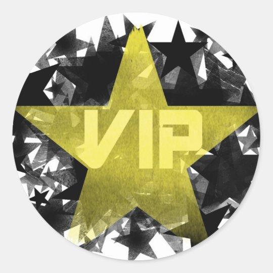 Gold Star VIP Round Sticker