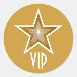 """Gold"" Star VIP round sticker yellow"