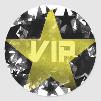 Gold Star VIP Stickers