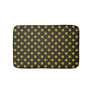 Gold Star with Black Background Bath Mat