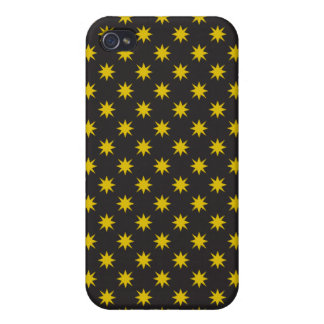Gold Star with Black Background Case For The iPhone 4