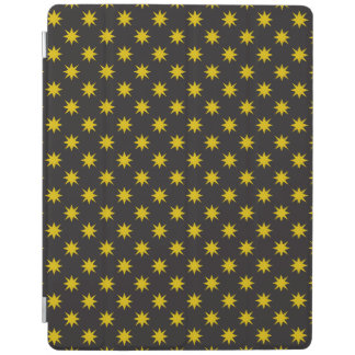 Gold Star with Black Background iPad Cover