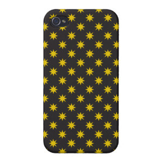 Gold Star with Black Background iPhone 4/4S Case