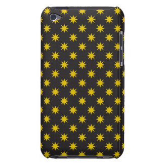 Gold Star with Black Background iPod Touch Covers