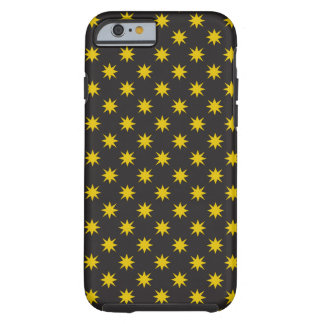 Gold Star with Black Background Tough iPhone 6 Case