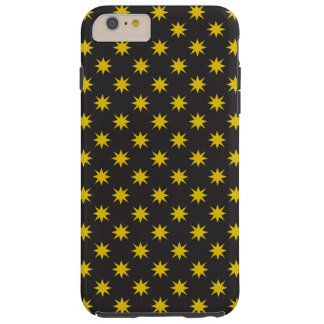 Gold Star with Black Background Tough iPhone 6 Plus Case