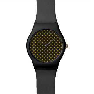 Gold Star with Black Background Wristwatch