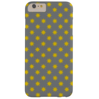 Gold Star with Grey Background Barely There iPhone 6 Plus Case