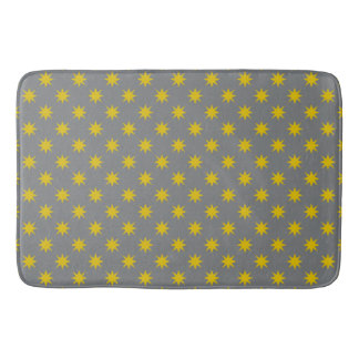 Gold Star with Grey Background Bath Mat