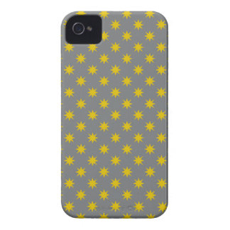 Gold Star with Grey Background Case-Mate iPhone 4 Case