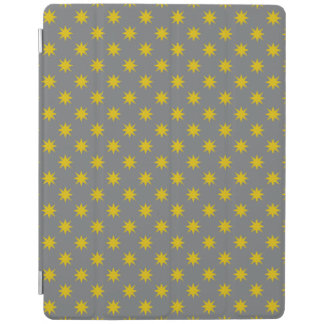 Gold Star with Grey Background iPad Cover