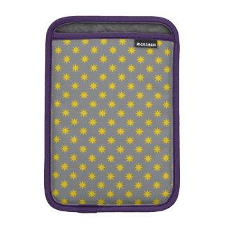 Gold Star with Grey Background iPad Mini Sleeve