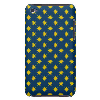 Gold Star with Navy Background Barely There iPod Cases