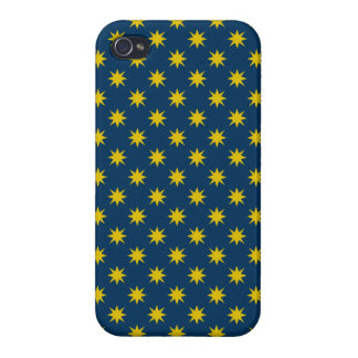 Gold Star with Navy Background Case For The iPhone 4