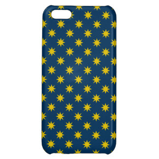 Gold Star with Navy Background Cover For iPhone 5C