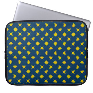 Gold Star with Navy Background Laptop Sleeve