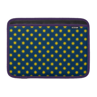 Gold Star with Navy Background Sleeve For MacBook Air