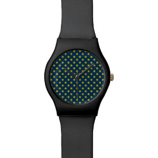Gold Star with Navy Background Watch
