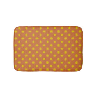 Gold Star with Orange Background Bath Mat