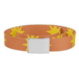 Gold Star with Orange Background Belt