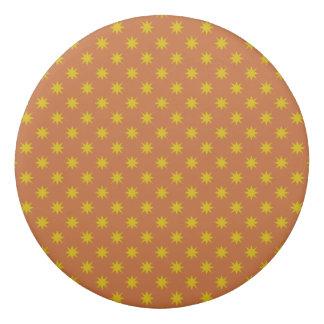 Gold Star with Orange Background Eraser